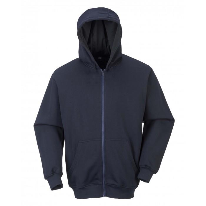 FR Zip Front Hooded Sweatshirt