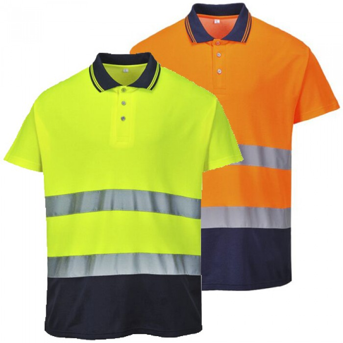 Two Tone Cotton Comfort Polo